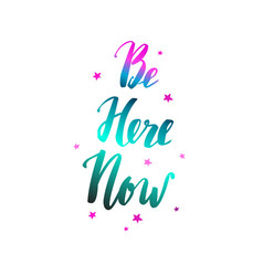 Be here now yoga vector