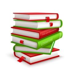 Big pile books vector