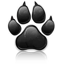 Black paw vector