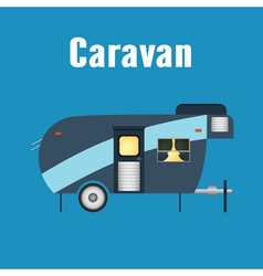 Camping trailer Caravan Isolated vector image