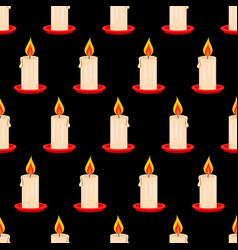 candle seamless pattern vector image