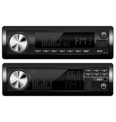 Car audio equipment radio and music players vector