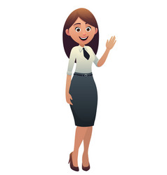 cartoon cute character beautiful woman smiling vector image