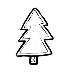 cartoon hand drawn sketch fir tree design element vector image