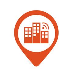 City locator design template pin maps vector