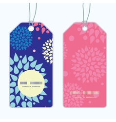 Colorful bursts vertical round frame pattern tags vector