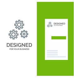 Configuration gears preferences service grey logo vector