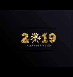 congratulations on the 2019 happy new year vector image