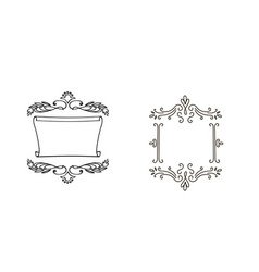decorative doodle frames for your design vector image