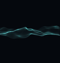 Digital flow of particles abstract wave vector