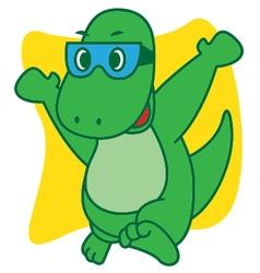 Dinosaur happy vector