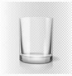 Drinking glass for pub transparent realistic vector