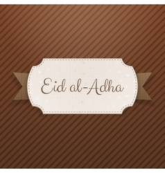 Eid al-Adha Text on greeting Label vector
