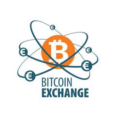 Exchange bitcoin for money vector