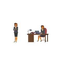 flat design business woman vector image