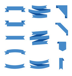 flat ribbons banners flat isolated on white vector image