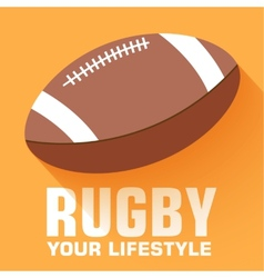 Flat sport rugby background concept design vector