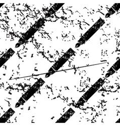 Fountain pen pattern grunge monochrome vector image