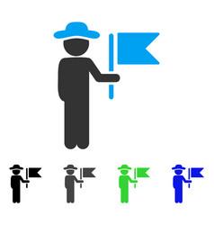 Gentleman commander flat icon vector