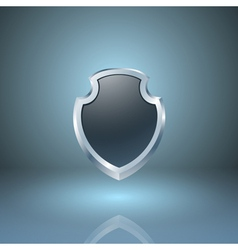 Glossy shield icon vector