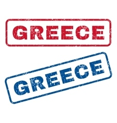 Greece Rubber Stamps vector