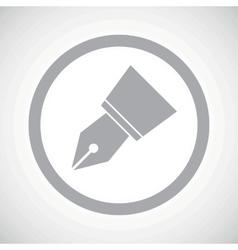 Grey ink pen nib sign vector