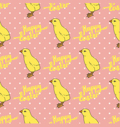 happy easter seamless pattern vector image