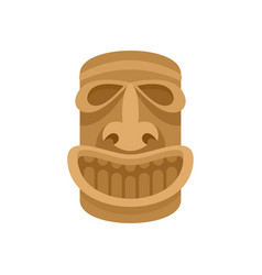hawaii wood idol icon flat style vector image