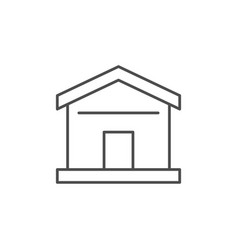 house or home line outline icon vector image