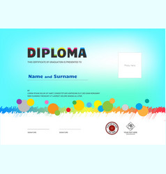 kids summer camp diploma or certificate template vector image