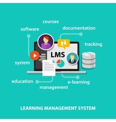 LMS learning management system vector image