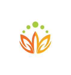 Lotus flower colored logo vector