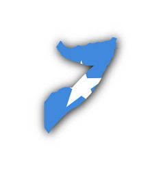 Map and flag of somalia vector