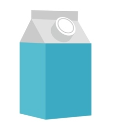 Milk in a box icon flat style Isolated on white vector image