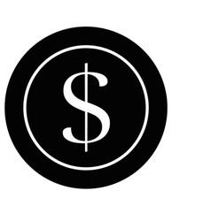Money coin isolated vector