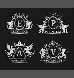 Monogram logo templatesluxury letters vector