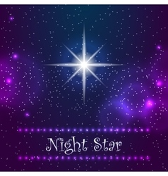 Night star on the sky vector
