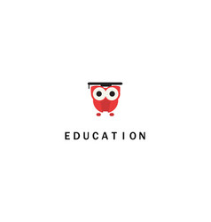 Owl education logo vector