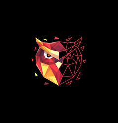 owl polygon colorful concept design vector image