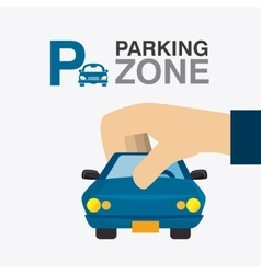 Parking zone graphic vector