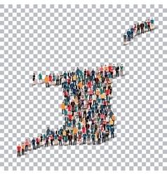 people map country Trinidad and Tobago vector image