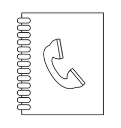 Phone book icon vector
