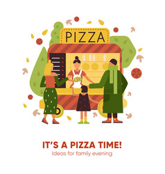 pizza time vector image