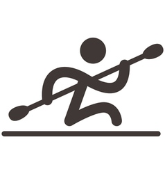 Rowing and Canoeing icon vector image