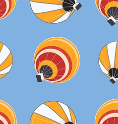 Seamless pattern of hot air balloons vector