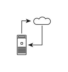 server sync icon vector image