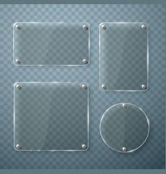 set glass frames on transparent vector image
