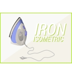 Smoothing-iron isometric 3d vector image