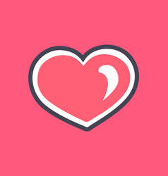 sparking pink heart cats day vector image
