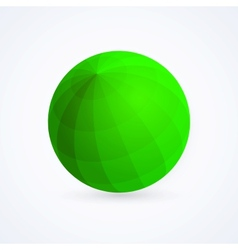 Sphere green ball vector image
